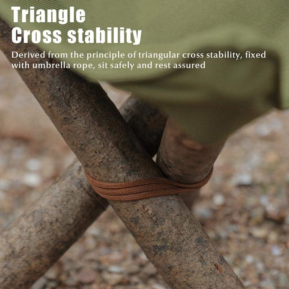 pesca Taburete plegable port/átil senderismo triangular de tela jardiner/ía y playa. para camping plegable
