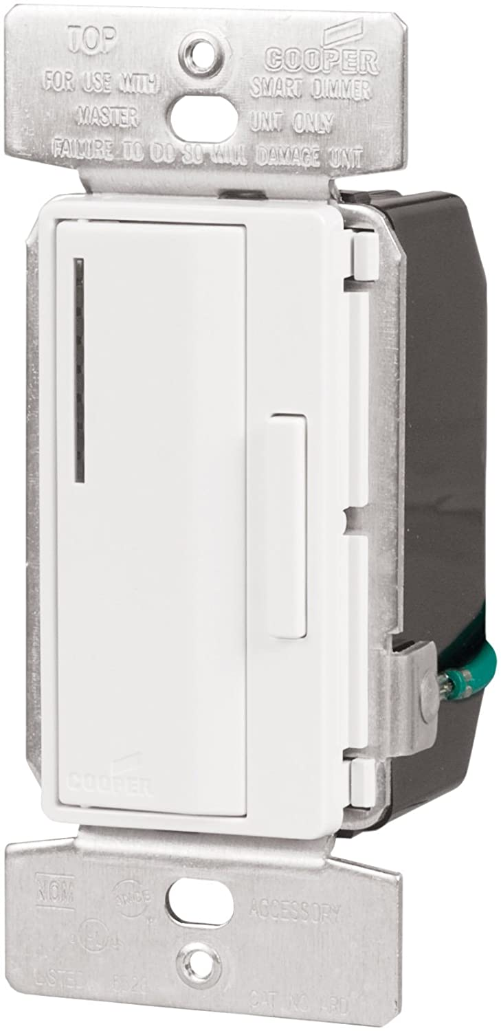 Eaton Ard W K 120 Volt Smart Accessory Dimmer With Preset White Cooper Wiring Aspire Wall Switches