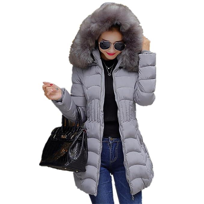 Manadlian_Chaqueta Chaqueta de Mujeres, Larga de Moda para Mujer de Invierno Algodón Caliente Desgastar Slim Coat