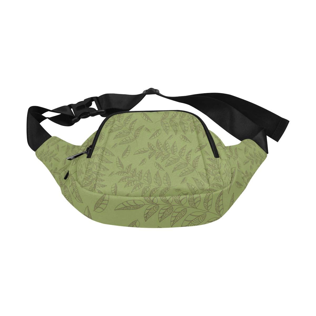 Green Willow Leaves In Spring Fenny Packs Waist Bags Adjustable Belt Waterproof Nylon Travel Running Sport Vacation Party For Men Women Boys Girls Kids
