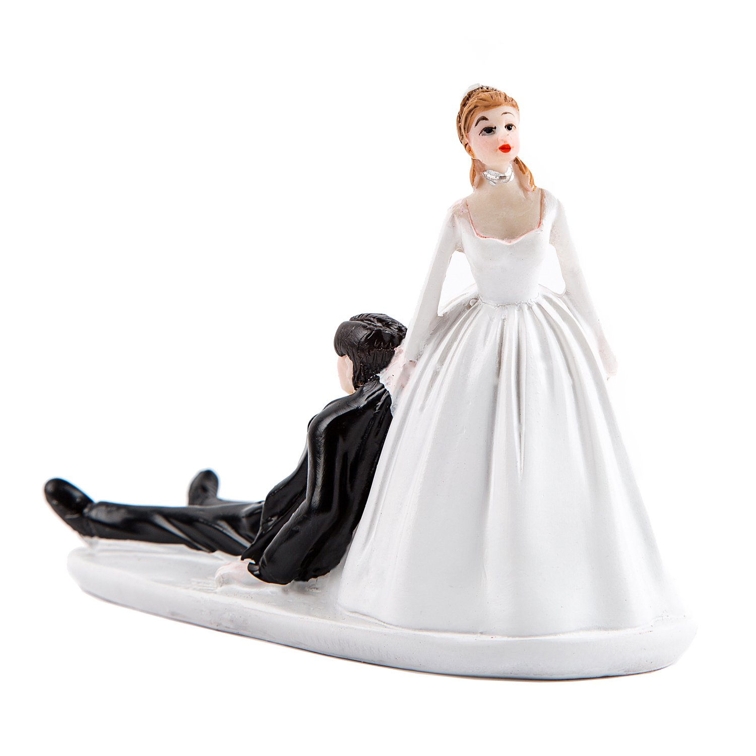 Wedding Cakes Toppers: Bride And Groom, Wedding Cake Topper, Funny The Mad In