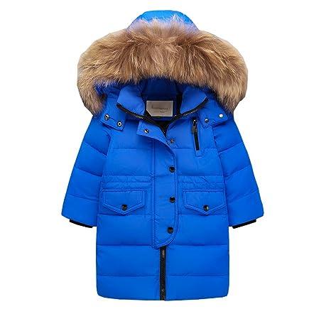 e6046c59ae AHATECH Piumino Bambino Invernale Giacca Bambina Antivento Spessore Piumino  Lungo Cappuccio Cappotto Ragazzi Snowsuit per Bambini