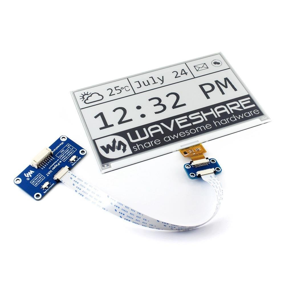 Makibes 75 Zoll 640x384 E Papier Hat Tinte Electronic Paper Wiringpi Blink C Display Modul Kit Zwei Farben 33 V Mit Embedded Controller Fr Raspberry Pi 2b 3b Null