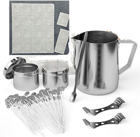 tJexePYK Fabricaci/ón de la DIY Kit de Cera de la Set Velas artesanales Herramientas de Bricolaje Pot Copa,Set