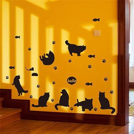 Pegatinas de pared, hunpta DIY gatos Avatar extraíble vinilo de pared familia hogar adhesivo Mural