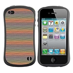 ArtSpace Premium Hybrid Back Case Cover Apple iPhone 4 / 4S ( cute lines )