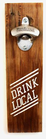 Drink Local Reclaimed Wood Bottle Opener | Home Drinking & Barware | Woodward Throwbacks | Scoutmob | Product Detail
