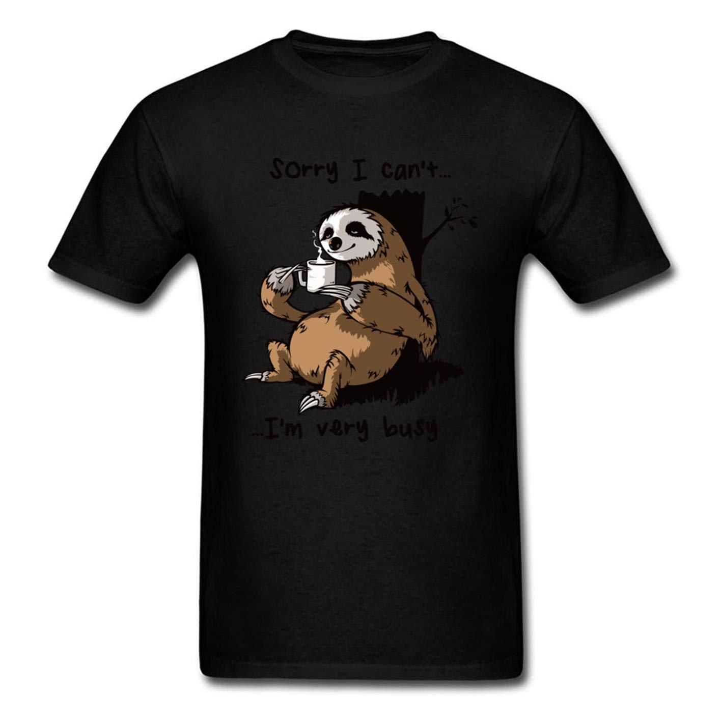 Slaoero Very Busy Sloth S Tshirt Printing Short Sleeve Tee