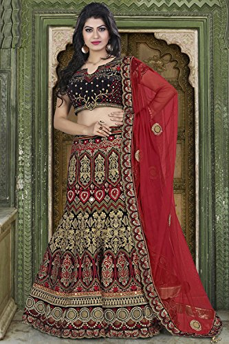 PCC Indian Women Designer Wedding black Lehenga Choli K-4571-40071