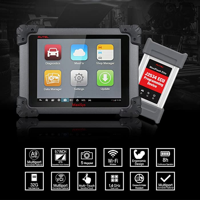 The Autel MaxiSys Pro MS908P Professional OBD2 scanner provides best solutions for ECU programming and Specialized Automotive Diagnosing.