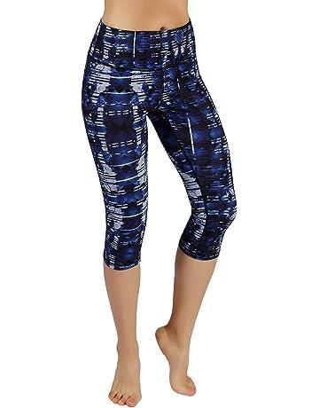 25d77a02ae ODODOS High Waist Out Pocket Printed Yoga Pants Tummy Control Workout  Running 4 Way Stretch Yoga