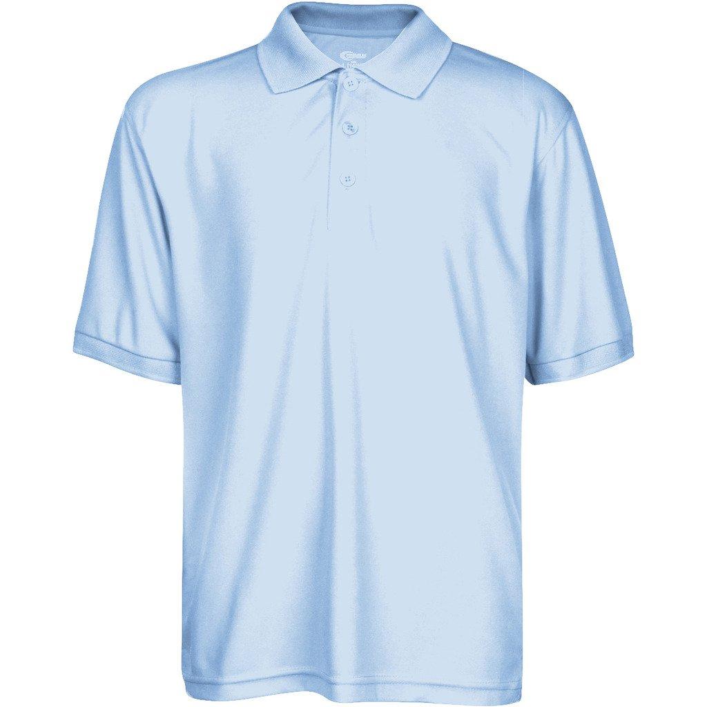 Premium High Moisture Wicking Polo T Shirts Light Blue XXS