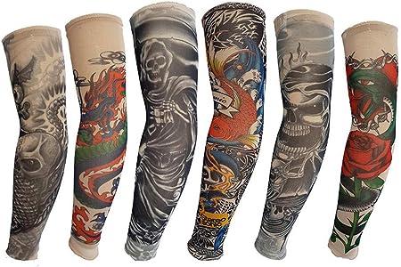 Mzqaxq Tattoo Sleeve 6 Pcs/Set Manga Larga Tatuaje Falso Bicicleta ...