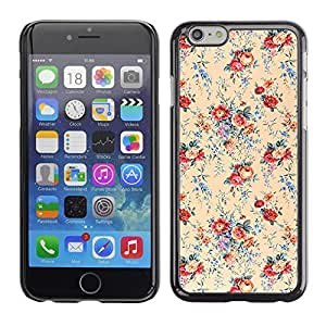 MOBMART Carcasa Funda Case Cover Armor Shell PARA Apple iPhone 6 / 6S - Mystical Colored Flowers