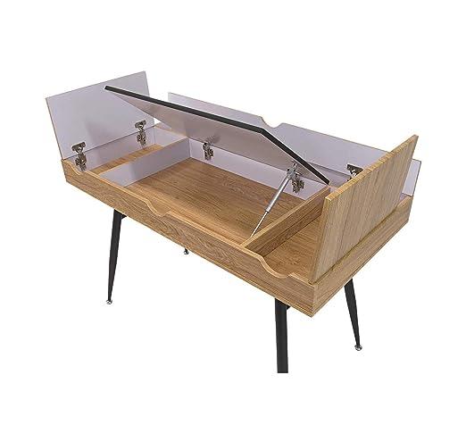 Escritorio moderno de madera y estilo Home Nook con múltiples ...