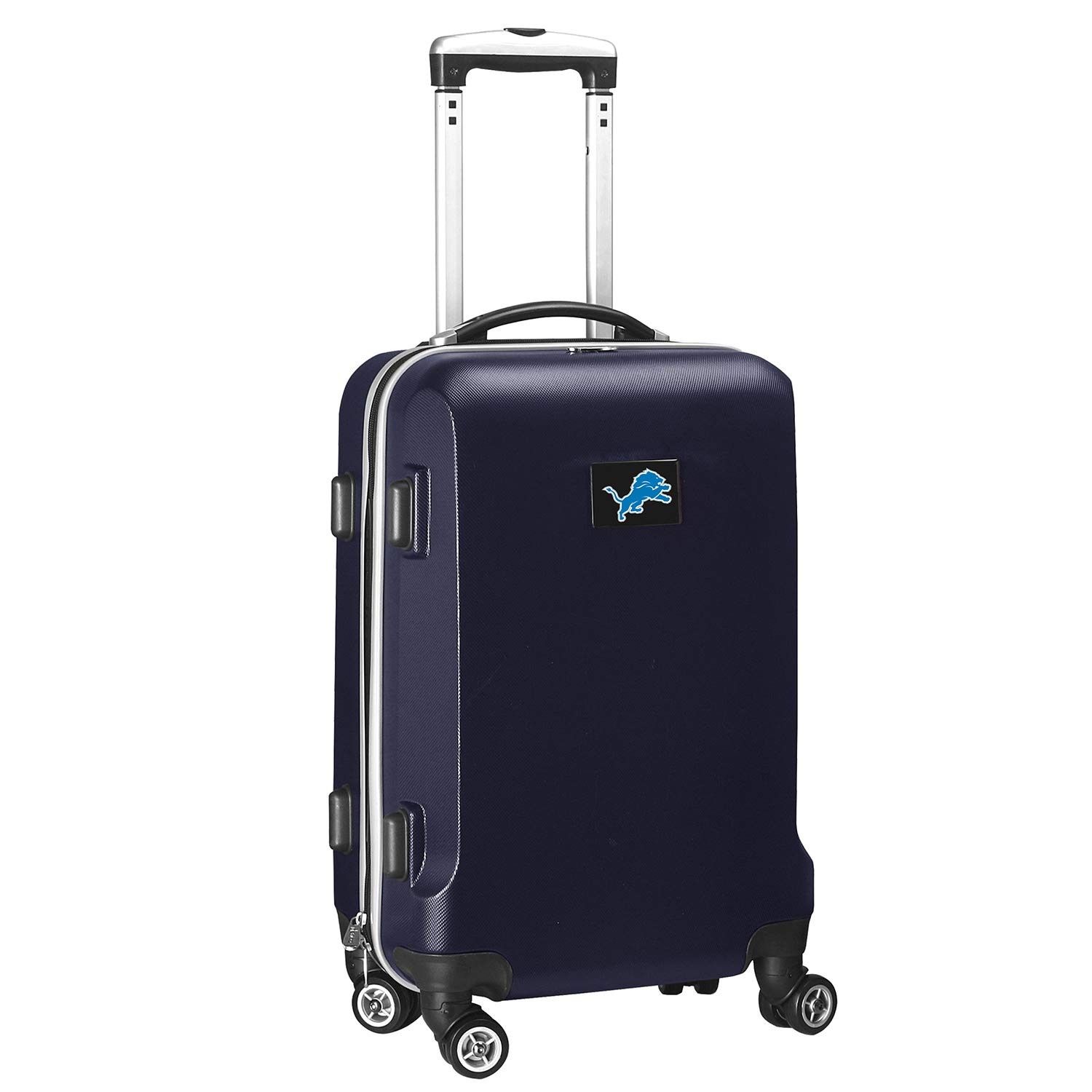 NFL Detroit Lions Carry-On Hardcase Luggage Spinner, Navy by Denco (Image #1)