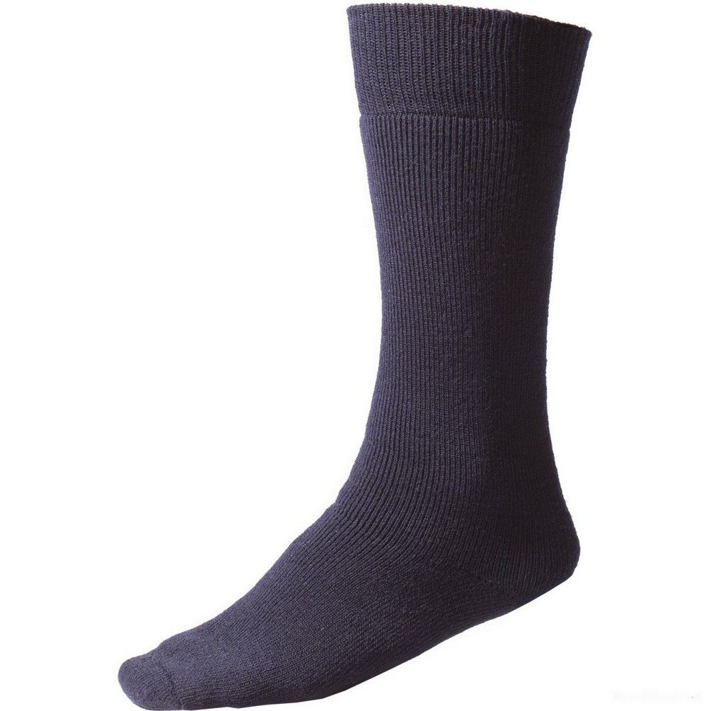 Minus 33 Multi Sport Full Length Ski Socks - Navy Unisex (Small (Womens 5-6.5/Mens 4-6.5))
