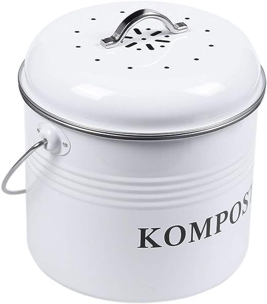 Tiamu Cubo de Compost de Cocina de 5L Bote de Basura Hecho en Casa ...