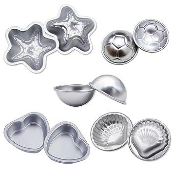 magicmai DIY Metal Bomba de Baño molde con forma de estrella, forma de corazón, forma redonda, ...