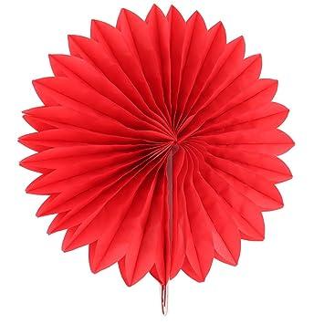 Sourcingmap Papier Aushohlen Design Falten Ventilator Blume Rot Fur