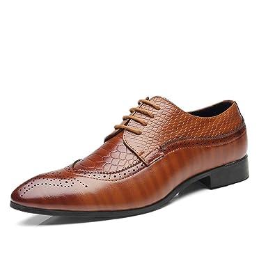 Zapatos de Cuero para Hombres Zapatos de Punta Puntiaguda ...