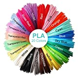 3D Pen PLA Filament Refills, 20 Colors, 20 Feet