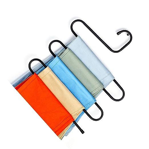 Amazon.com: Aulley - Perchero multicapa en forma de S para ...