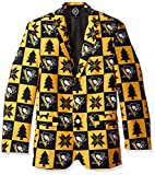 NHL Pittsburgh Penguins Men's Patches Ugly Business Jacket, Size 46/Large