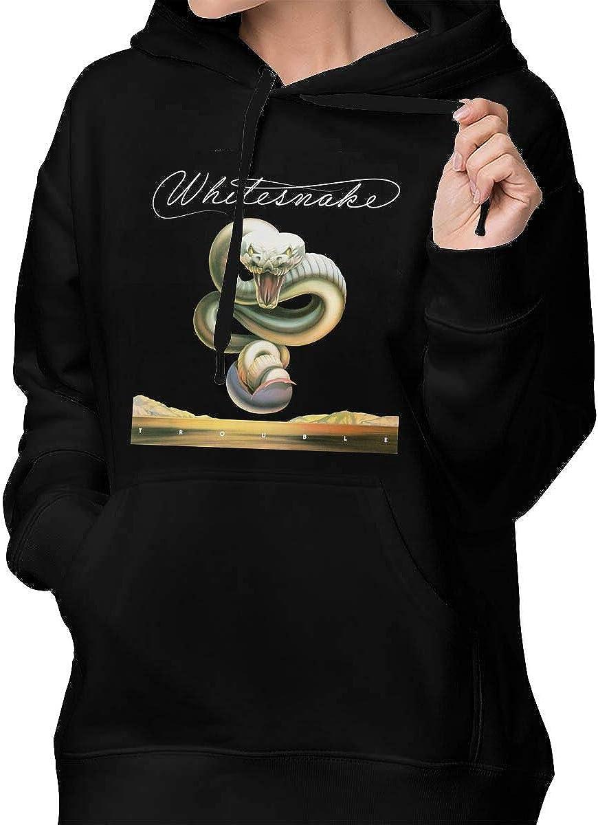 MatthewNiles Whitesnake Trouble Women Warm Drawstring Pocket Sweater
