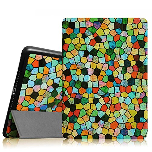 Fintie iPad Air 2 Case - Ultra Slim Lightweight Stand Smart Cover with Auto Sleep/Wake Feature for Apple iPad Air 2 (iPad 6) 2014 Model, Stained Glass Mosaic (Stained Glass Ipad Mini Case)