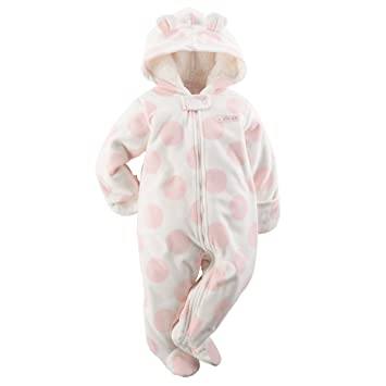 c7aef13bb Carters Baby Girls Hooded Fleece Bunting Pink Dot 9M by Carter s ...