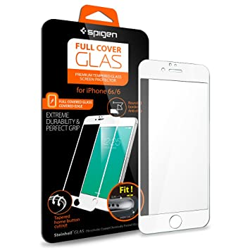 new style c1527 0f525 Spigen Full Cover Glass iPhone 6s Screen Protector Tempered Glass/Full  Coverage for Apple iPhone...