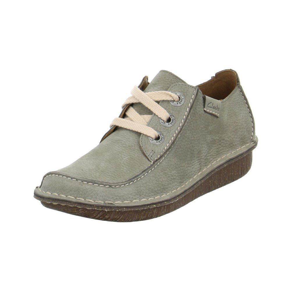 Clarks Funny Dream, Zapatos de Cordones Derby Mujer 37.5 EU Verdes