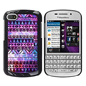 - Hipstr Nebula Aztec Tribal Pattern - - Hard Plastic Protective Aluminum Back Case Skin Cover FOR BlackBerry Q10 Queen Pattern