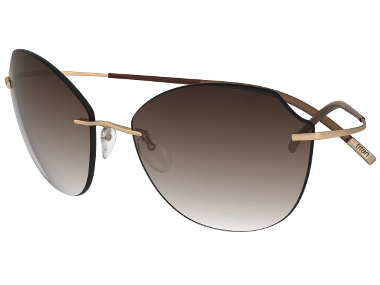 Silhouette Sunglasses Titan Minimal ART The Icon 8158 (taupe siky matte / brown gradient lenses)