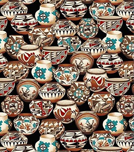 Native American Pots Allover Fleece Fabric - 60