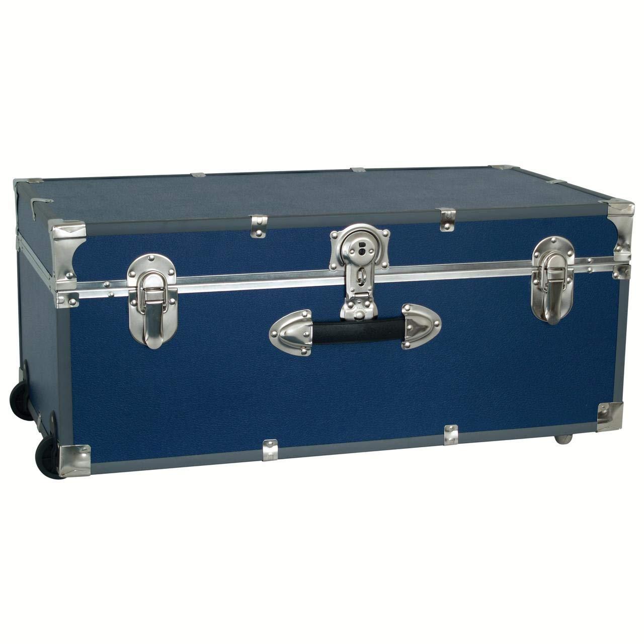 30'' Footlocker Trunk with Wheels (Navy Blue) by Seward Trunk
