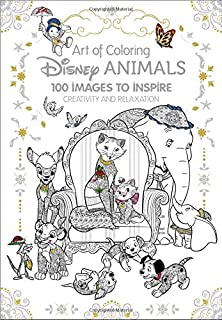art of coloring disney animals 100 images to inspire creativity and relaxation - Walt Disney Coloring Books