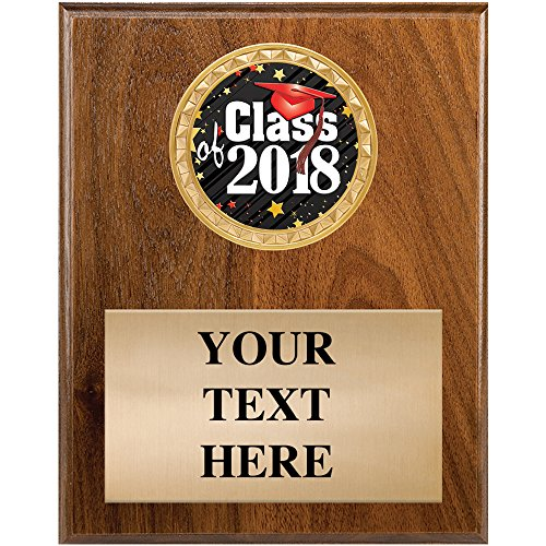 Graduation Plaque Awards - Class of 2018 Graduate Trophy Gifts With Customized Text ()