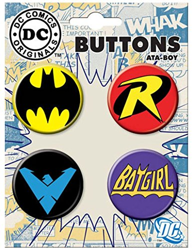Ata-Boy DC Comics Originals Batman Logos Set of 4 1.25