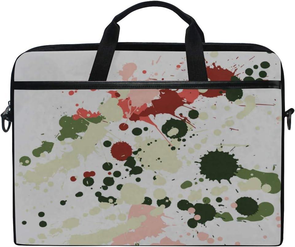 College Students Business People Laptop Bag Paint Stains Grunge Decorative 15-15.4 Inch Laptop Case Briefcase Messenger Shoulder Bag for Men Women
