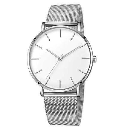 MISSWongg_Reloj Reloj Acero Inoxidable, Cuarzo con Esfera de ...