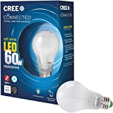 Cree Connected 60W Soft White (2700K) Dimmable LED Light Bulb (Single Pack), Works with Alexa