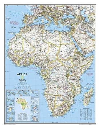 Amazoncom Africa Classic Laminated National Geographic - Amazon maps
