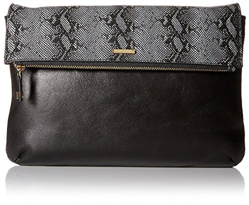 Lodis Convertible Clutch (LODIS Women's Vanessa Snake Valerie Convertible Cross-Body, Black)