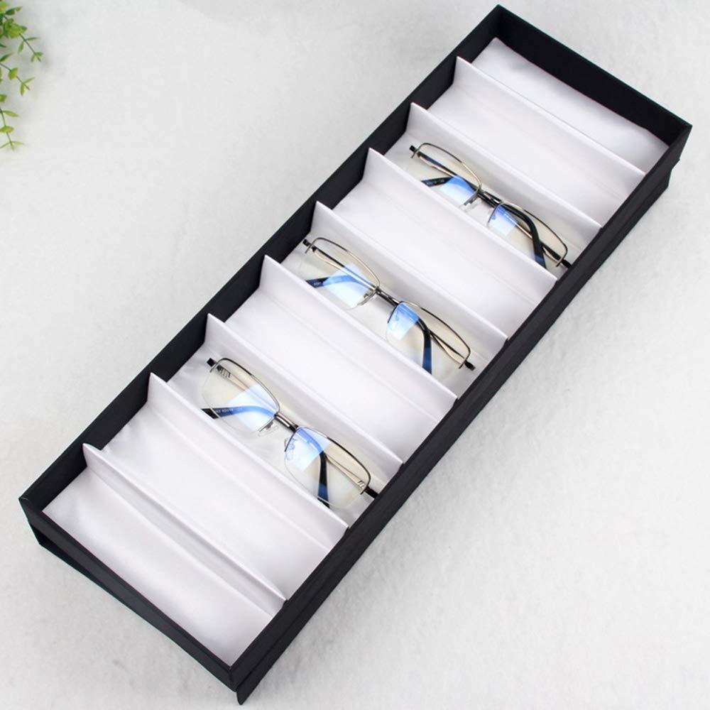 Gafas de sol Gafas Relojes Organizador Caja de presentación del almacenamiento de los vidrios del marco de la cubierta de la adsorción del imán Caja de ...