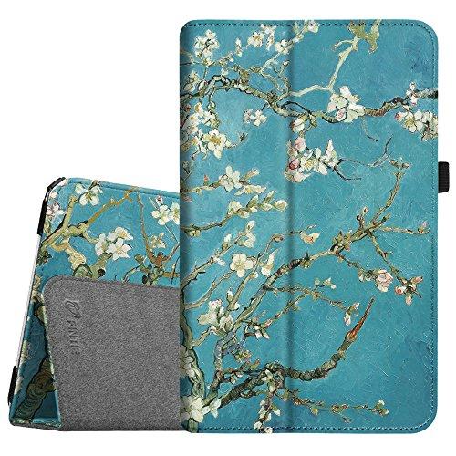 Fintie Samsung Galaxy Tab E 9.6 Folio Case - Slim Fit Premium Vegan Leather Cover for Samsung Tab E / Tab E Nook 9.6-Inch Tablet (SM-T560 / T561 / T565 & SM-T567V Verizon 4G LTE Version), Blossom