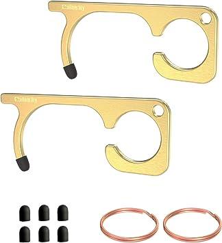 for Outdoor Public Door Handle Cleankey Handheld No-Contact Key Opener /& Door Closer Contactless Security EDC Door Hook Opener Smart Key Tool