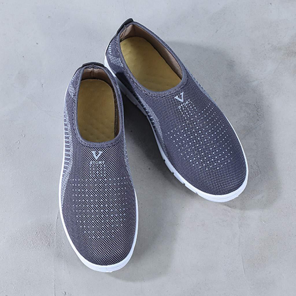 kaifongfu Men's Footwears Shoes Slip-On Sport Shoes Sneaker Comfortable Shoes(Gray,39) by kaifongfu (Image #4)