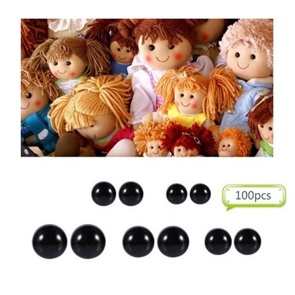 100pcs 10mm plastica occhi occhi di sicurezza fai da te giocattoli